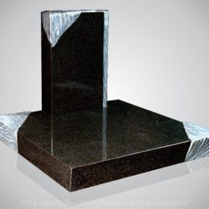 7354-Black Gepolijst, handwerk Urnmonument