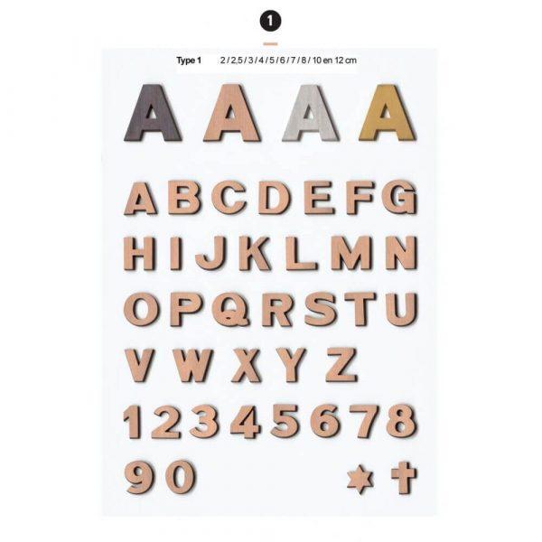 Graf Letters Type1 Grafversieringen