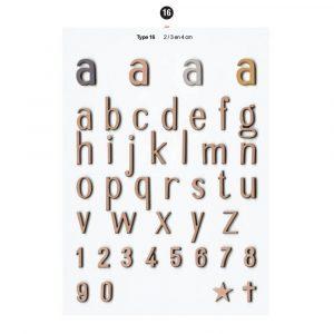 Graf Letters Type19 Grafversieringen