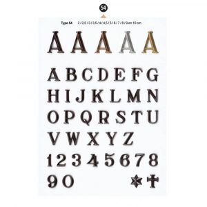 Graf Letters Type54 Grafversieringen