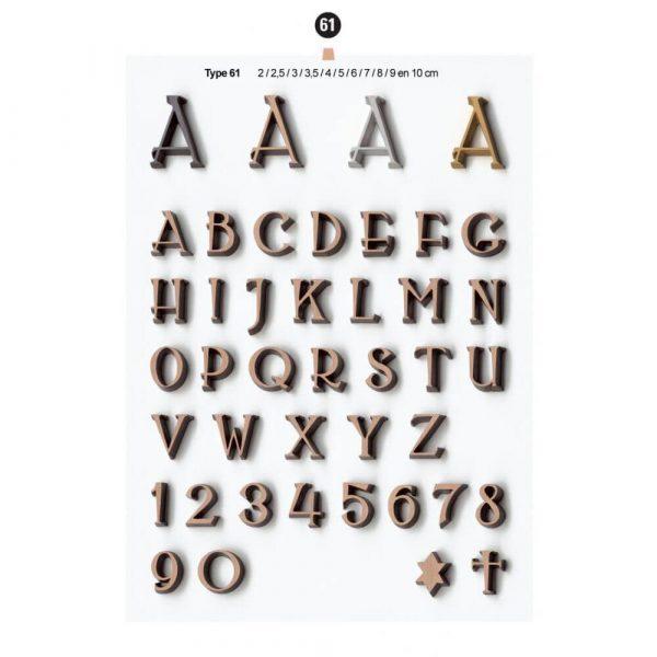 Graf Letters Type61 Grafversieringen