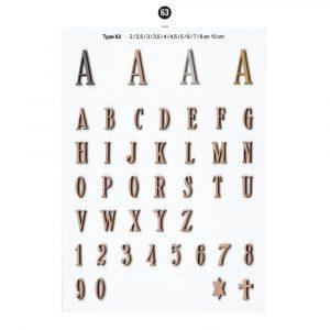 Graf Letters Type63 Grafversieringen