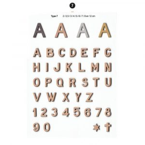 Graf Letters Type7 Grafversieringen