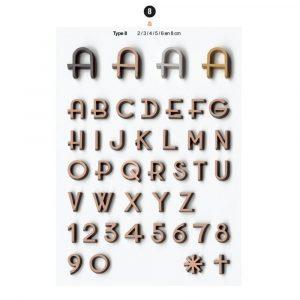 Graf Letters Type8 Grafversieringen