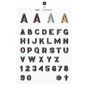 Graf Letters Type9 Grafversieringen
