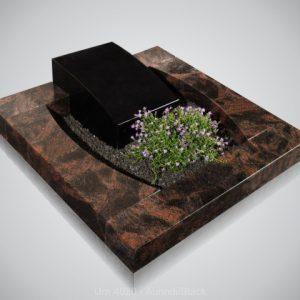 Urn 4020 Aurindi Black Urnmonument