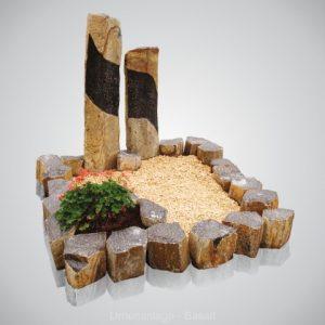 Urnenanlage Basalt Urnmonument