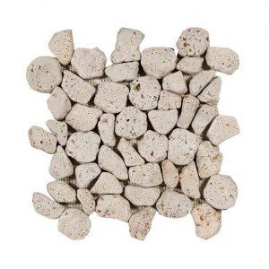 Aegean Pebbles Beige Travertin Decortegel