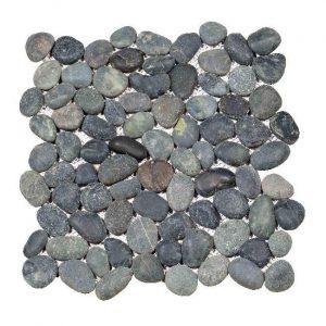 Beach Pebbles Small Black Decortegel