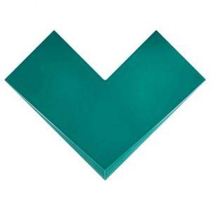 Cosmo Vee Turquoise Decortegel