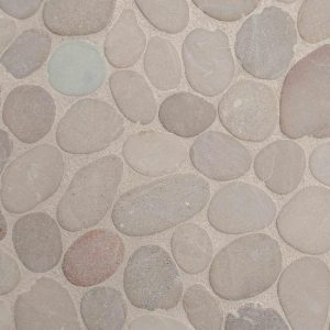 Horizontal Sliced Pebbles Grey/Beige Decortegel