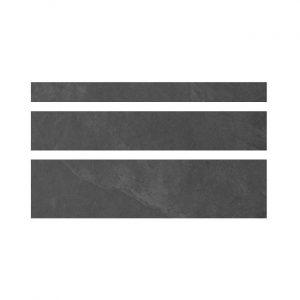 Welsh Slate Nero Strips Keramiek Wandstrip