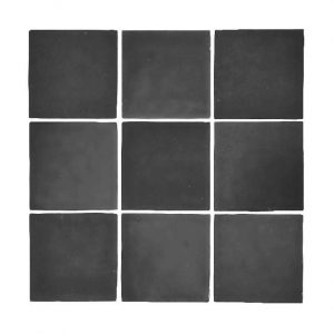Zellige Black Gloss Keramiek Wandtegel