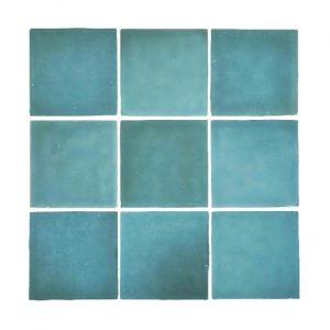 Zellige Blue Gloss Keramiek Wandtegel
