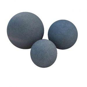 Natuurstenen Set Bollen Black Granite Gebouchardeerd