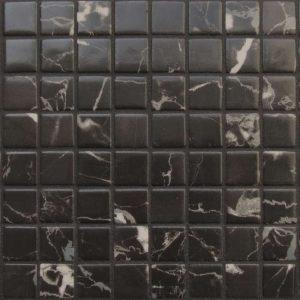 Glasmozaïek Zen Black Marble Decortegel